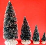 Mini Christmas Trees Stock Images