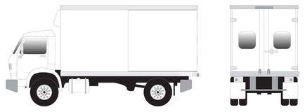 mini ciężarówka linii sztuki royalty ilustracja