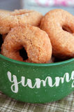 Mini Cinnamon Doughnuts Photographie stock