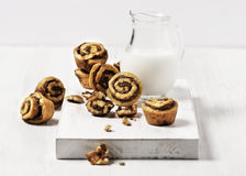 Mini Cinnamon Rolls Stock Image