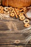 Mini circle pretzels Royalty Free Stock Photography