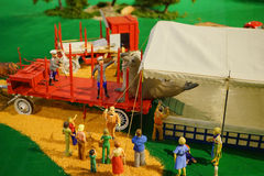 Mini circus statue: moving animal Stock Photos