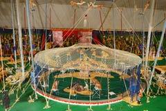Mini circus statue: performance Stock Images