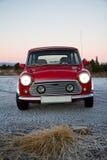 Mini clássico vermelho Fotografia de Stock Royalty Free