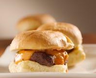 Mini close up dos slideres do hamburguer Imagem de Stock Royalty Free