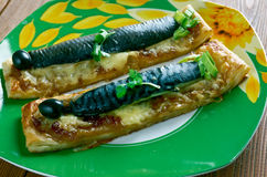 Mini cocas de sardinas Stock Photography