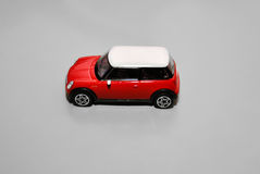 Mini coche del juguete rojo Fotografía de archivo