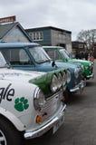 Mini coches clásicos en el mini evento 2017 del día de Brooklands Foto de archivo