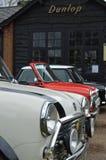 Mini coches clásicos en el mini evento 2017 del día de Brooklands Foto de archivo libre de regalías