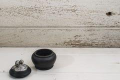 Mini cofanetti fatti a mano di legno Fotografia Stock