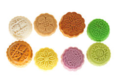 Mini Colorful Moon Cakes Royalty Free Stock Photos