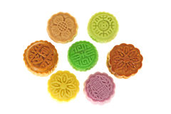 Mini Colorful Moon Cakes Royalty Free Stock Image