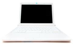 Mini computadora portátil blanca Imagen de archivo libre de regalías