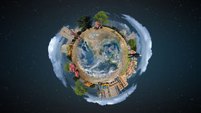 Mini conceito do mundo Foto de Stock Royalty Free