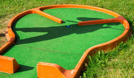 Mini concept de golf Photo libre de droits