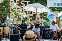 Mini concert. Best Coffee & Tea at Singh Park Chian Rai, Thailand Royalty Free Stock Photos