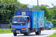 Mini container truck of Uniliver thai trading company Royalty Free Stock Photos