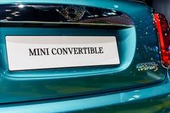 Mini Convertible car Stock Photography