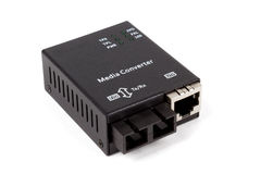 Mini convertitore a fibra ottica di media Immagine Stock