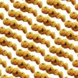 Mini Cookies no fundo isolado ou branco Foto de Stock