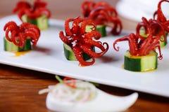Mini Cooking Octopus foto de archivo libre de regalías