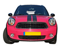 Mini cooper. A 2011 mini cooper with sporty look front view Stock Images
