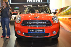 MINI COOPER. At Qatar Motor Show Second Exhibition on the 25th of January 2012 stock photo