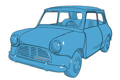 Mini-cooper. Illustration of mini-cooper on a white background royalty free illustration