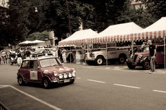Mini Cooper at Bergamo Historic Grand Prix 2015 Stock Photography