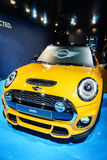Mini cooper car, Motor Show Geneve 2015. Royalty Free Stock Images