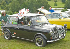Mini Cooper Classic car at Ripley Castle. Royalty Free Stock Image
