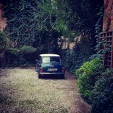 Mini Cooper classico a Treviso Italia fotografie stock libere da diritti