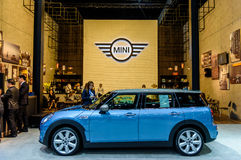 Mini Cooper Club man at Thailand International Motor Expo 2016 Royalty Free Stock Photo