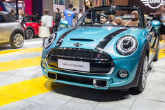 Mini Cooper convertible showed in Thailand the 37th Bangkok Inte Royalty Free Stock Photo