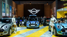 Mini Cooper Exhibit-cabine royalty-vrije stock foto