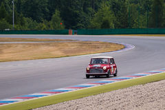 Mini Cooper. Historic racing car photographed during Brno Grand Prix Revival event on 5 July 2014 in Automotodrom Brno, Czech Republic Royalty Free Stock Photo
