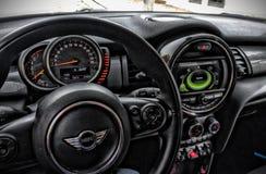 Mini Cooper Interior immagini stock libere da diritti