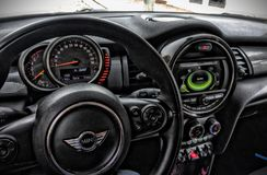 Mini Cooper interior royalty free stock images