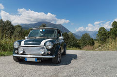 Mini Cooper. A 1998 Limited Edition of a green Mini Cooper stock images