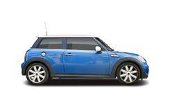 Mini cooper. New blue Mini Cooper isolated on white Stock Photos