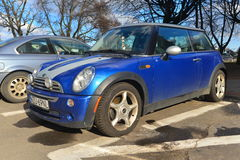 Mini Cooper parked in Gdansk, Poland Royalty Free Stock Photo