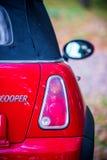 Mini cooper red Stock Image