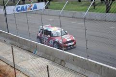 Mini Cooper-Rennen Lizenzfreies Stockbild