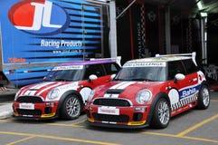 Mini Cooper-Rennen Lizenzfreies Stockfoto