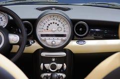 Mini cooper s Car interior. Interior of new luxury sports car Royalty Free Stock Photo