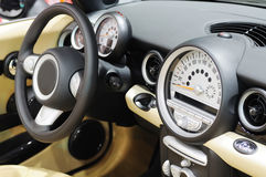 Mini cooper s car steering wheel Stock Images