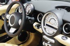 Mini cooper s car steering wheel. Mini cooper  car steering wheel Stock Images