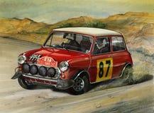 Mini Cooper S Monte Carlo Rally 1964. Illustration of a Mini Cooper S Monte Carlo Rally 1964 Royalty Free Stock Image