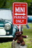 Mini Cooper's Parking Royalty Free Stock Images