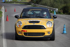 Mini Cooper s race car Stock Images